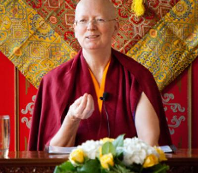 Lama Zangmo teaching