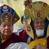 Akong Rinpoche and Lama Yeshe hats 2